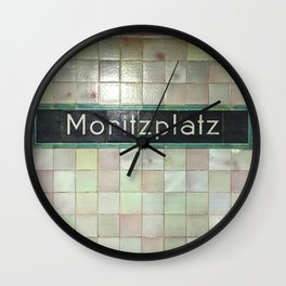 Berlin U-Bahn Memories - Moritzplatz Wall Clock