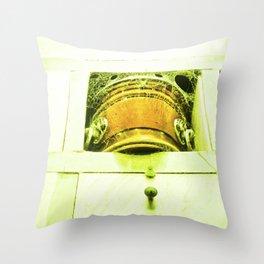 Dead human casket. Throw Pillow