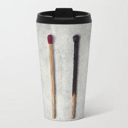 two matches closeup Travel Mug