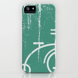 Grunge bicycle iPhone Case