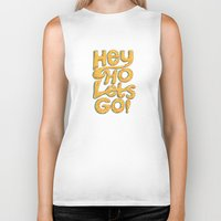 ramones Biker Tanks featuring Hey Ho Let's Go by Word Quirk