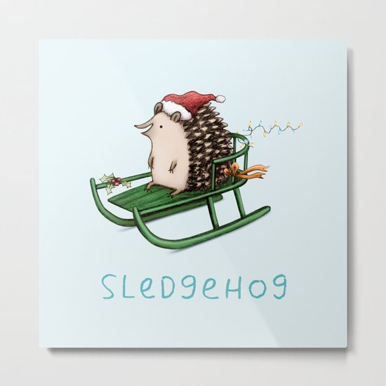 Sledgehog Metal Print