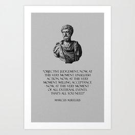 Marcus Aurelius - Stoicism Art Print