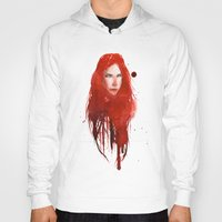 redhead Hoodies featuring Undead Redhead by The Art of Plinio Pinto