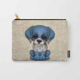 Cute Puppy Dog with flag of Honduras Carry-All Pouch