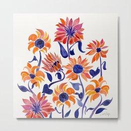 Sunflowers – Sunset Palette Metal Print