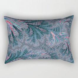 Teal Fractal Rectangular Pillow