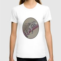 racoon T-shirts featuring Racoon sleeping by Pendientera