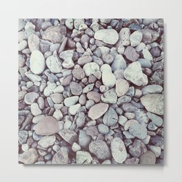 Pebble Texture Metal Print