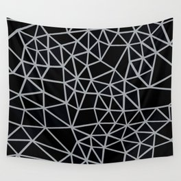 Segment Grey and Black Wall Tapestry