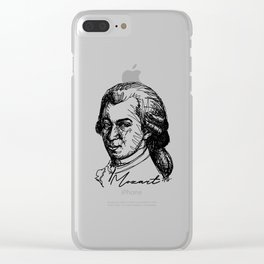Wolfgang Amadeus Mozart sketch Clear iPhone Case