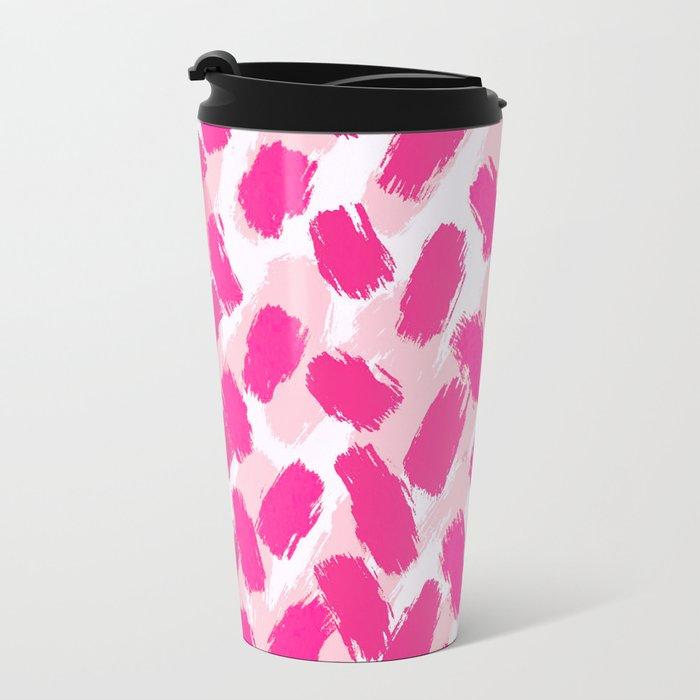 Strawberry Vanilla and Sprinkles Brushstrokes  Travel Mug