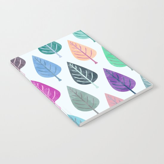 Watercolor Forest Pattern III Notebook