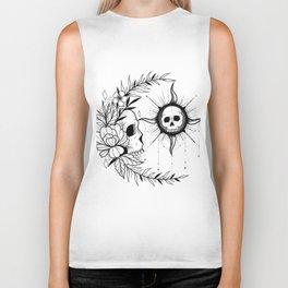 sun and moon skull Biker Tank