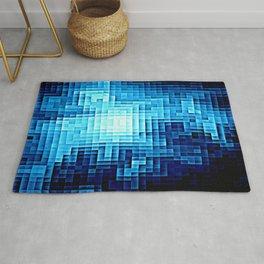 Nebula Pixels Blue Rug