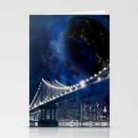 new york city Stationery Cards featuring New!! New York City by Simone Gatterwe