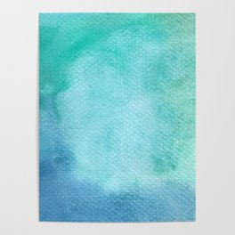Blue Watercolor Texture Poster