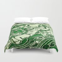 dancer Duvet Covers featuring Dancer by Yukska
