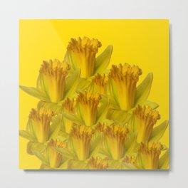 YELLOW SPRING DAFFODILS YELLOW ART Metal Print