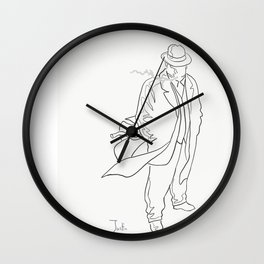 Mobster in contemplation Wall Clock