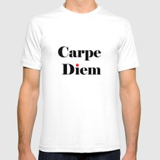 carpe diem red i  SMALL Mens Fitted Tee White