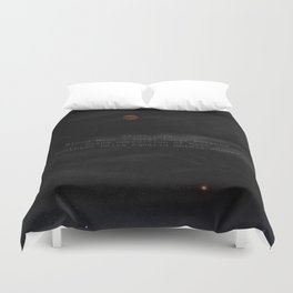 Blood Moon - Total Lunar Eclipse, Grand opposition of Mars, Southern Delta Aquarid meteor shower Duvet Cover