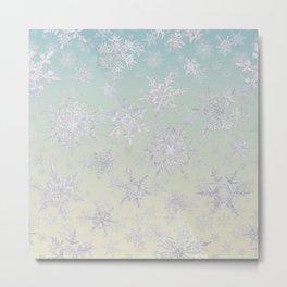 Frosty Day - Snowflakes Metal Print