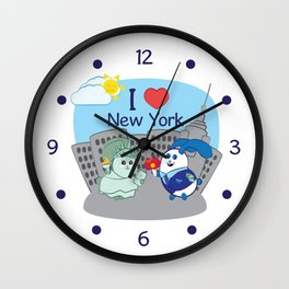 Ernest and Coraline | I love New York Wall Clock