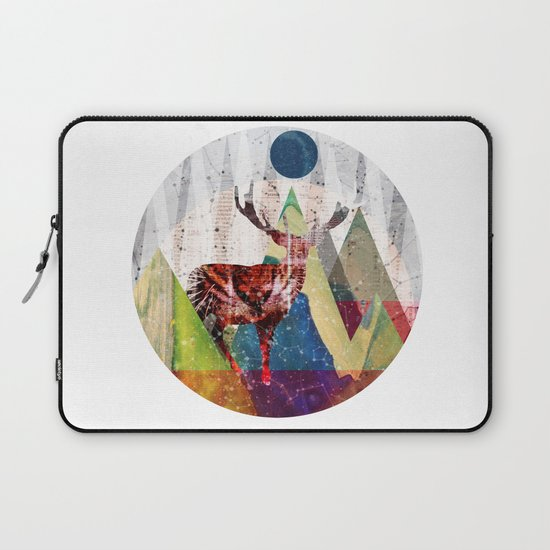 Wonder Wood Dream Mountains - Red Deer Dream Illusion 2 Laptop Sleeve