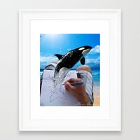 killer whale Framed Art Prints featuring Killer Whale by Fahrudin
