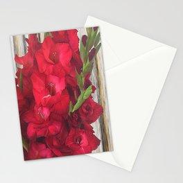 Red Gladiolas Stationery Cards