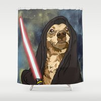 sith Shower Curtains featuring Sith Bowser [FANDOG] by Mars Attacks Design