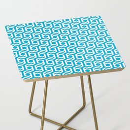 Modern Hive Geometric Repeat Pattern Side Table