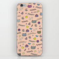meow iPhone & iPod Skins featuring meow by galactikat