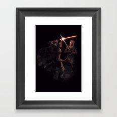 Dark Duel Framed Art Print