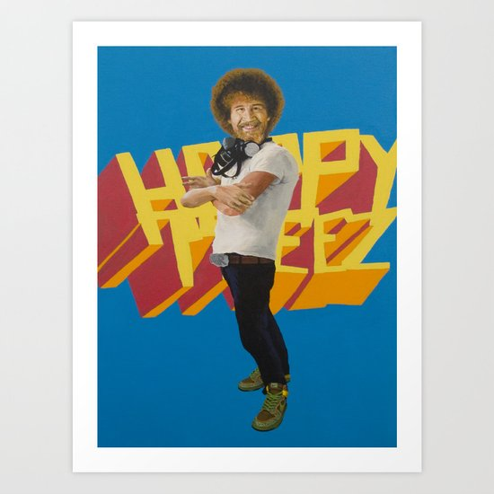 Hip Hop x Bob Ross Art Print