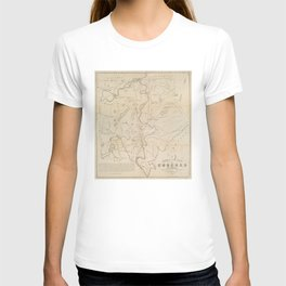 Vintage Map of Concord NH (1855) T-shirt