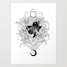 Dag och natt Art Print