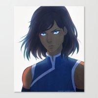 legend of korra Canvas Prints featuring Korra by Nymre