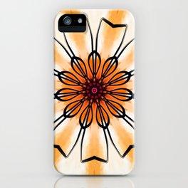 Marigold Flower Mandala Design iPhone Case