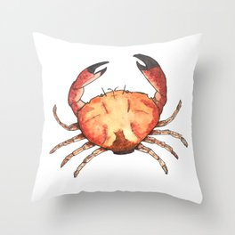 Crab: Fish of Portugal Throw Pillow