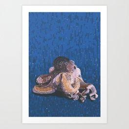 Octopus Impression Art Print