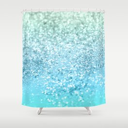 Seafoam Aqua Ocean MERMAID Girls Glitter #1 #shiny #decor #art #society6 Shower Curtain