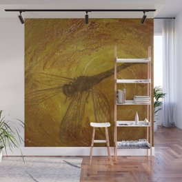 Dragonfly in Amber Wall Mural