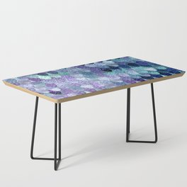 SUMMER MERMAID  Purple & Mint by Monika Strigel Coffee Table