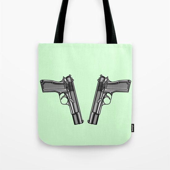 Hip Tattoo Pistols Tote Bag