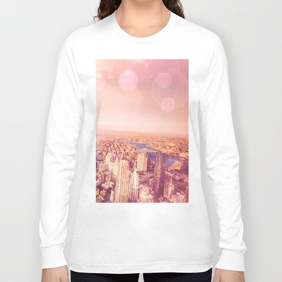 New York City Skyline of Light Long Sleeve T-shirt
