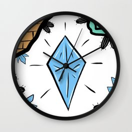 Underground Diamonds Wall Clock
