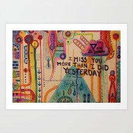 Forgetful Art Print