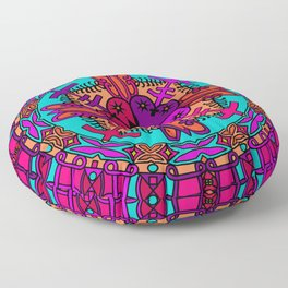 Mustard Seed Mandala Floor Pillow